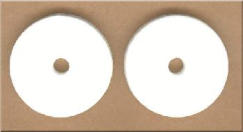 Pads for Polishing DVD - White - ZDAG 101 Simo Disc Repair Machine